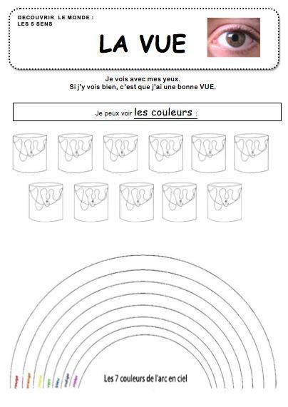 Les 5 Sens La Vue La Maternelle De Vivi 5 Sens 5 Sens Maternelle Activites 5 Sens