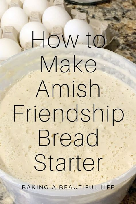 How to Make your Own Amish Friendship Bread Starter ~ Amy Marie Sourdough Bread Starter, Sourdough Recipes, Recipe For Amish Bread Starter, Amish Bread Recipes, Best Amish Recipes, Sweet Recipes, Carrot Recipes, Ham Recipes, Fudge Recipes