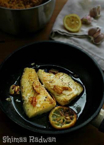 طريقة عمل فيليه السمك بالثوم والليمون بالصور من Shimaa Radwan Recipe Food Brussel Sprout Brussel