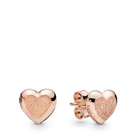 Matte Brilliance Hearts Earrings Pandora Rose Pandora Rose Pandora 287928 Heart Earrings Studs Stud Earrings Pandora Jewelry