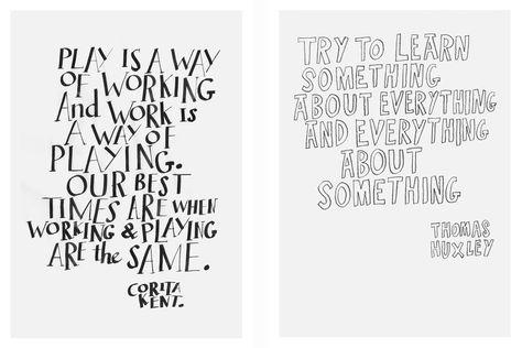 Inspiring words postcard - Work in progress