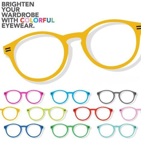 Eye-wear can be a very fun accessory don't be afraid to use some color!!! #eyewear #colorful #accessory #Eldoradohills #eldoradohillsoptometry #eyedr #optometrist #optometry