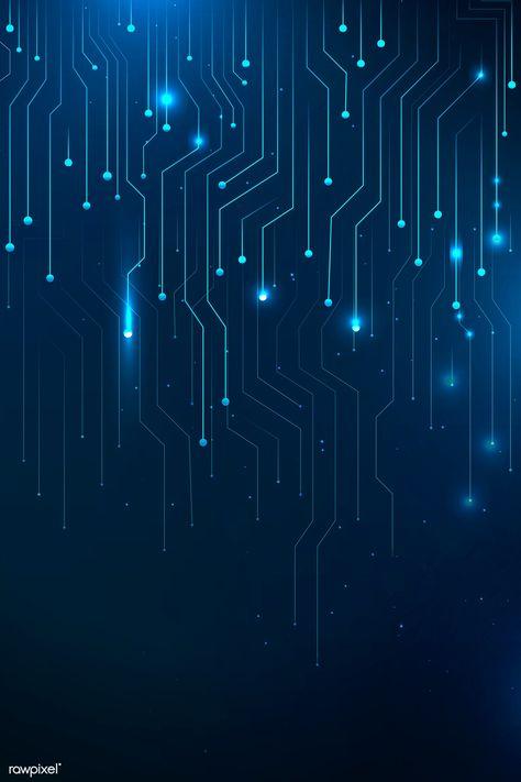 Blue futuristic networking technology vector | premium image by rawpixel.com #vector #vectorart