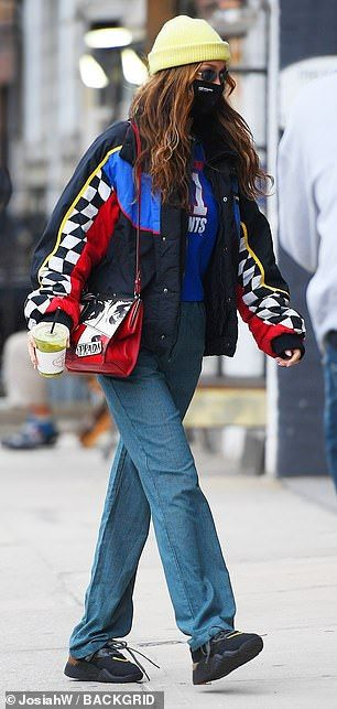 Bella Hadid does sporty chic while grabbing vintage duds in Brooklyn