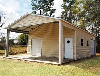 Utility Carports Are Great For Both Shelter And For Storage The Utility Building At The End Of The Carport Carport With Storage Metal Carports Steel Carports