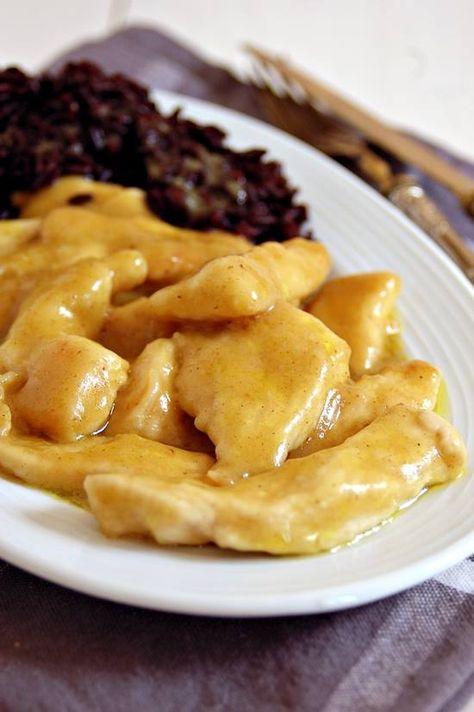 Straccetti di pollo al curry con riso venere   Mamma Papera