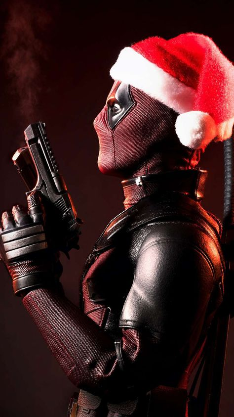 Deadpool Christmas iPhone Wallpaper 1 - iPhone Wallpapers