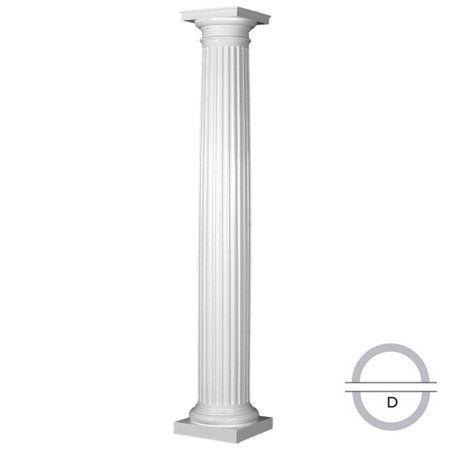 "10/"" Tuscan Polyurethane Cap Roman Doric Base Crown Column /& Millwork Tapered"
