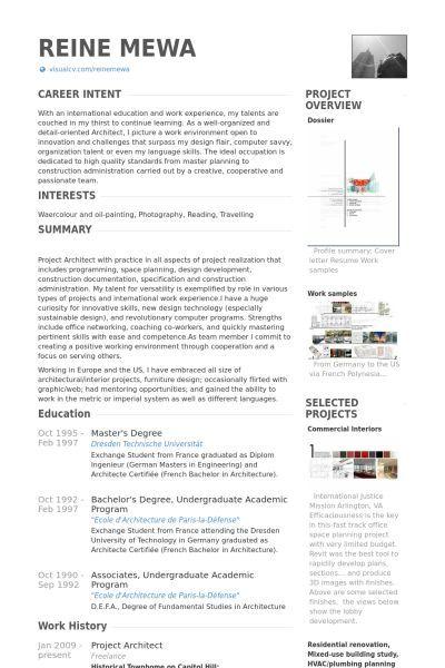 Pin By Masud Rana On Resume Template Professional Architect Resume Resume Examples Architect Resume Sample