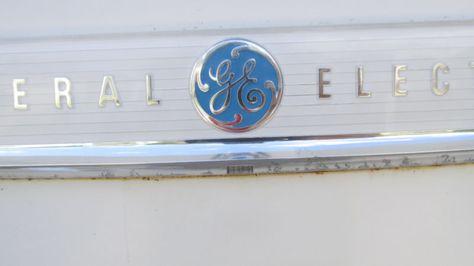 """Vintage General Electric 1950's Retro Refrigerator """"1"""""""