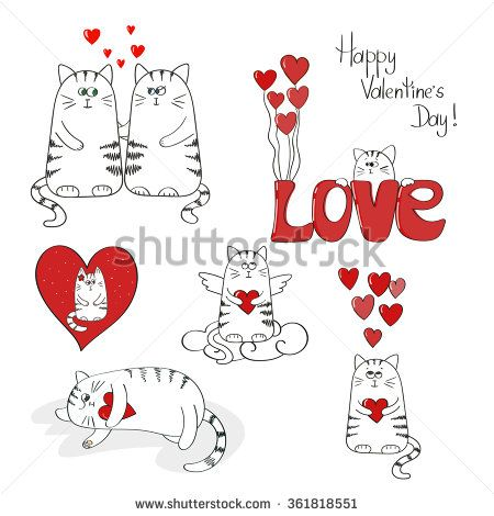 Happy Valentine\'s CAT\'s #cat #valentine #cute #happy | Cute cats ...