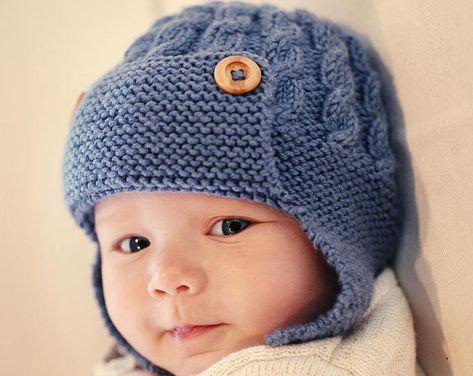 06bf206a4aa Baby Aviator Hat PDF Knitting Pattern