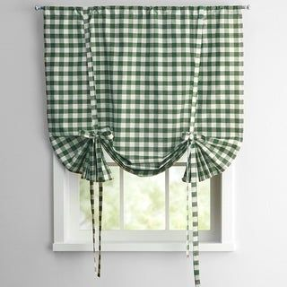 Buffalo Check Decorative Tie Up Shade Tie Up Shades Sweet Home Collection Roller Shades