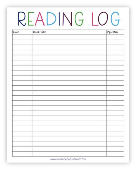Free Printable Reading Log, Sight Words Lists and Learn to Read Tips homeschool schedule chart Kindergarten Reading List, 2nd Grade Reading, Homeschool Kindergarten, Guided Reading, Preschool, Kids Reading, Reading Log Printable, Reading Logs, Reading Workshop