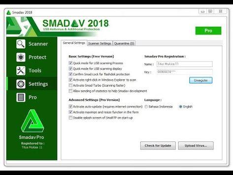 How To Update Smadav To 2018 Get The Linces Key Activation Code For Free Antivirus Antivirus Program Antivirus Software