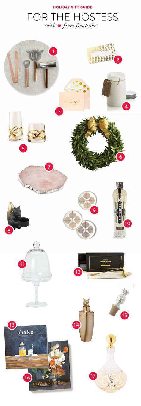 Gift Guide: For the Hostess Read more - http://www.stylemepretty.com/living/2013/12/06/gift-guide-for-the-hostess/
