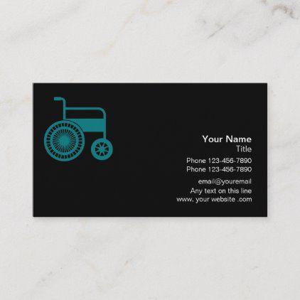 Medical Handicap Assistance Business Card Zazzle Com Business Cards Cards Medical