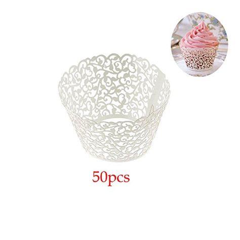 Baby Shower Vine Birthday Wedding Decoration Filigree Wrappers Cases Cupcake