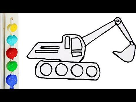 Sketsa Gambar Excavator Di 2021 Fleksibilitas Mobil Truk