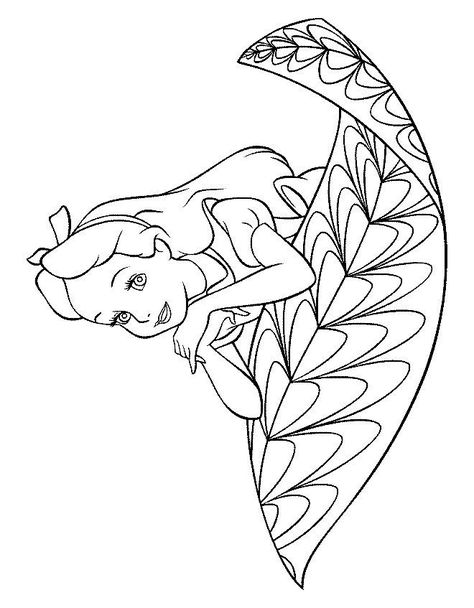 Desenho Para Colorir Alice No Pais Das Maravilhas Alice No Pais
