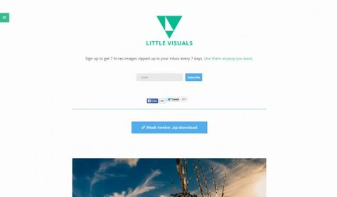 Hochwertige und kostenfreie Bilder – Little Visuals. (Screenshot: littlevisuals.co)