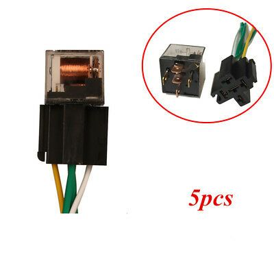 Details About 12v Dc Car Relay Changeover 60a W Hardness Socket 60 Amp 5 Pin Spdt Relays New In 2020 Car Starter Car Front Car Stereo