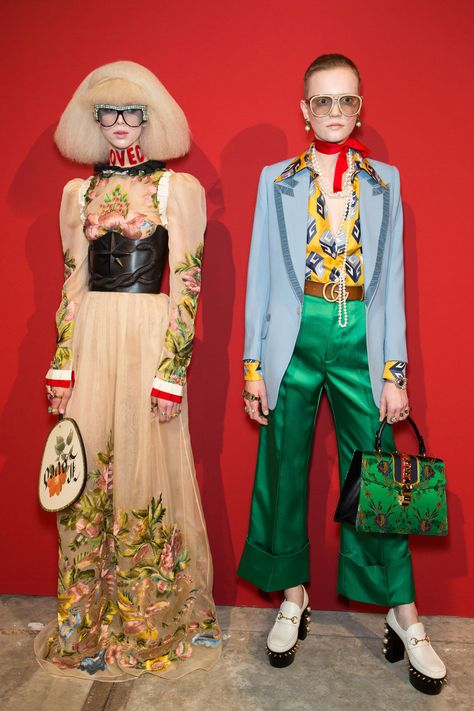 Gucci at Milan Fashion Week Spring 2017 - Gucci Embroideries - Ideas of Gucci Embroideries - Gucci at Milan Fashion Week Spring 2017 Backstage Runway Photos