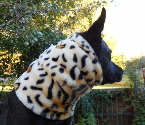 Fake fur dog snood scarf Faux fur neck warmer cowl by bellaTAZ