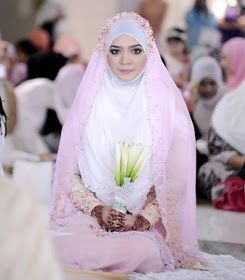 Tutorial Jilbab Pashmina Akad Nikah Di 2020 Pengantin