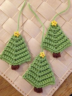Christmas Tree Garland Crochet Christmas Garland Christmas Crochet Patterns Crochet Christmas Decorations