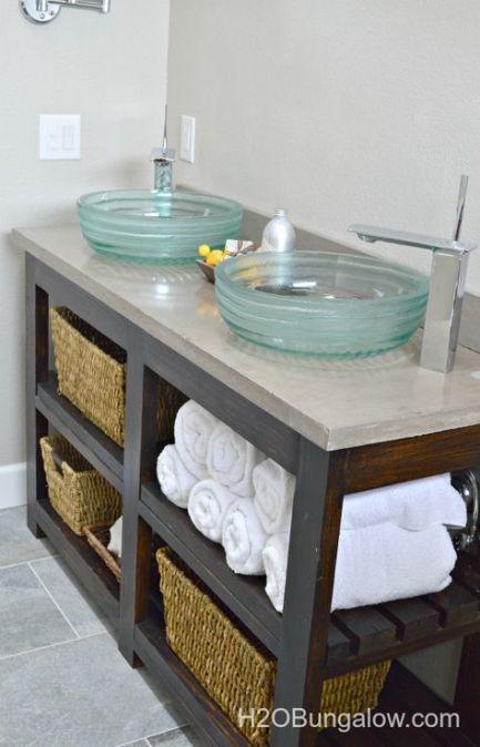 Bathroom Vanity Top Ideas Pottery Barn 34 Ideas Diy Bathroom Vanity Amazing Bathrooms Open Shelving