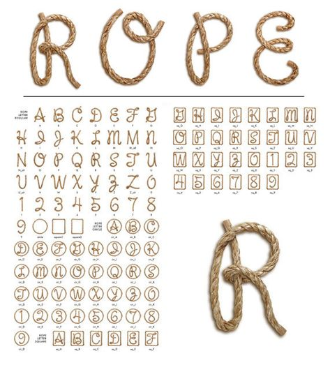 always loved rope letters