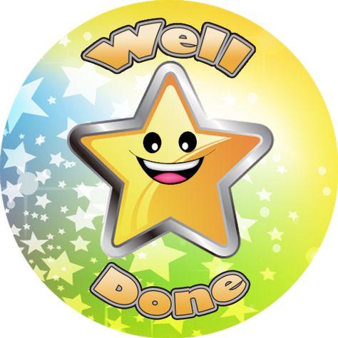 144 Rainbows and Stars 30 mm Reward Stickers for School Teachers Parents