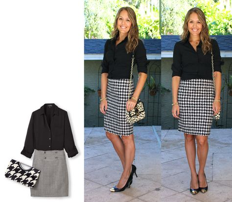 0f625ef6bb3a Houndstooth Skirt. Houndstooth Skirt. More information. 2014 Outfits:  July-December — J's Everyday Fashion