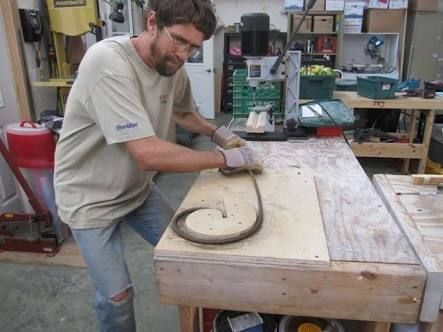 Bending Rebar Into A Circle Google Search Welding Projects Metal Working Projects Rebar