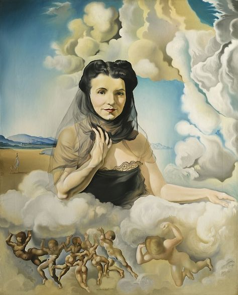 Portrait Of Mrs Ortiz Linares 1942 Oil On Canvas Signed