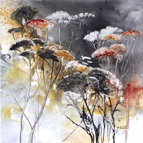 Matin Lumineux Roselyne Farail Peinture Fleurs Aquarelle