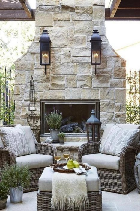 Diy Patio Projects Outdoor Furniture Ideas 5 Minute Diy In 2020 Outdoor Fireplace Plans Diy Outdoor Fireplace Outdoor Fireplace Designs
