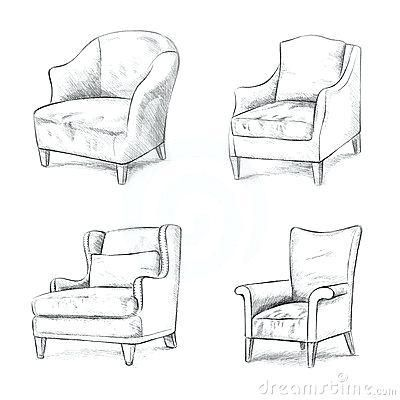 Couch Drawing Furniture Design Sketches Drawing Furniture Interior Design Sketches