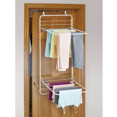 Over Door Laundry Clothes Drying Rack White Gray In 2020 Clothing Rack Clothes Drying Racks Drying Clothes