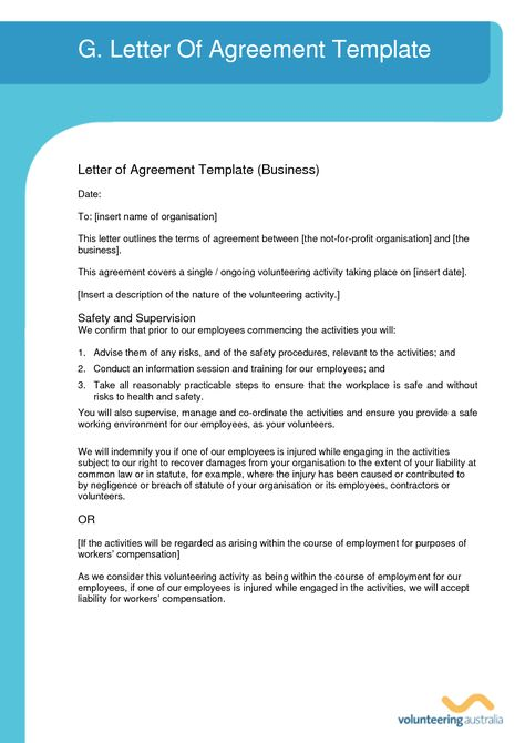 Agreement Letter Template Templates Collection - agreement - indemnity form template