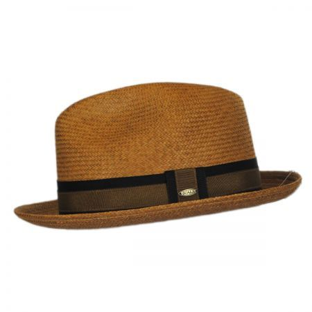 Scala Two Tone Band Panama Straw Trilby Fedora Hat Panama Hats Low Crown Hats Outfits With Hats Trilby Fedora