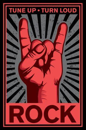 La main Rock Metal : Acorde juste et joue très fort ! Affiche
