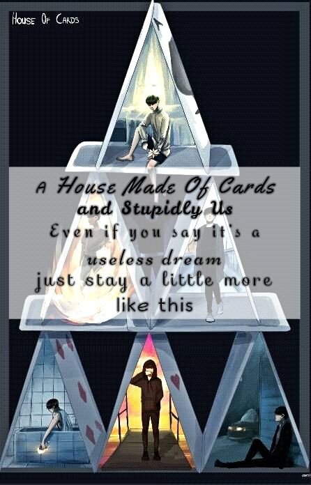 A House Made Of Cards And Stupidly Us Even If You Say It S A