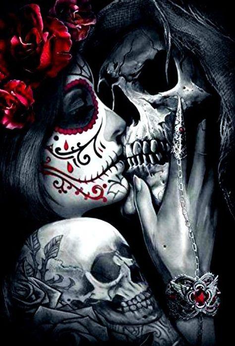 skull art dark & skull art ` skull artwork ` skull art drawing ` skull art dark ` skull art pretty ` skull art tattoo ` skull art wallpaper ` skull art black and white Skull Couple Tattoo, Skull Rose Tattoos, Skull Sleeve Tattoos, Sugar Skull Sleeve, Sugar Skull Girl Tattoo, Art Tattoos, La Muerte Tattoo, Catrina Tattoo, Lowrider Art