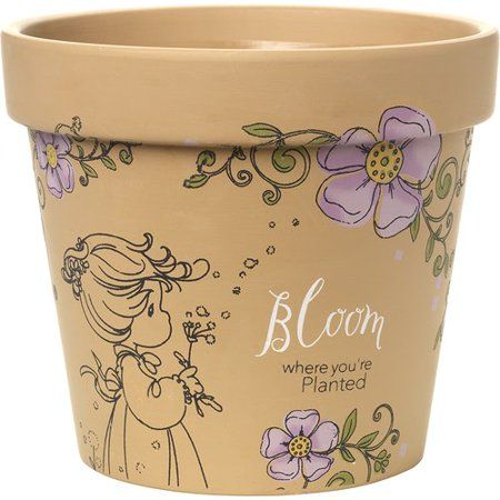 Patio Garden Bloom Where Youre Planted Precious Moments Planters
