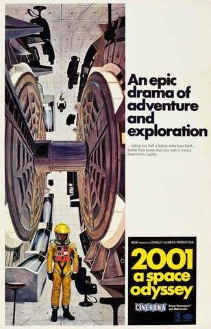 A great poster for Stanley Kubrick's epic sci-fi drama of adventure and…