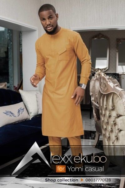 Nollywood Actor Alexx Ekubo Is Carving A Niche For Himself In The Nigerian Fashion Industry He Recently C Nigerian Men Fashion African Dresses Men Yomi Casual