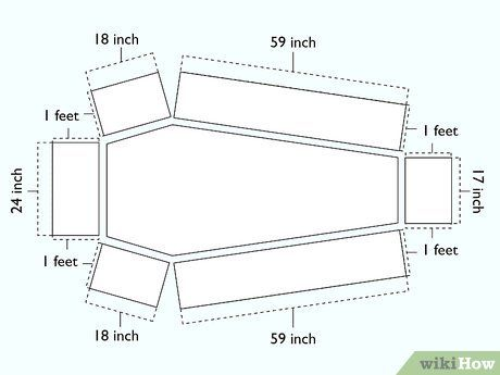 How to Make a Coffin: 13 Steps (with Pictures) - wikiHow Casa Halloween, Halloween Outside, Halloween Coffin, Halloween Projects, Diy Halloween Decorations, Halloween Party, Wood Shop Projects, Woodworking Projects Diy, Goth Home Decor