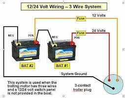 How To Wire A Trolling Motor Trolling Motor Boat Battery Basic Electrical Wiring